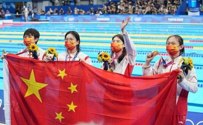 4x200 serbest bayrak yarışı dünya rekoruyla Çin'in oldu