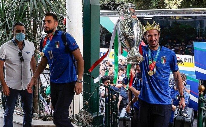 EURO 2020'nin şampiyonu İtalya evine döndü