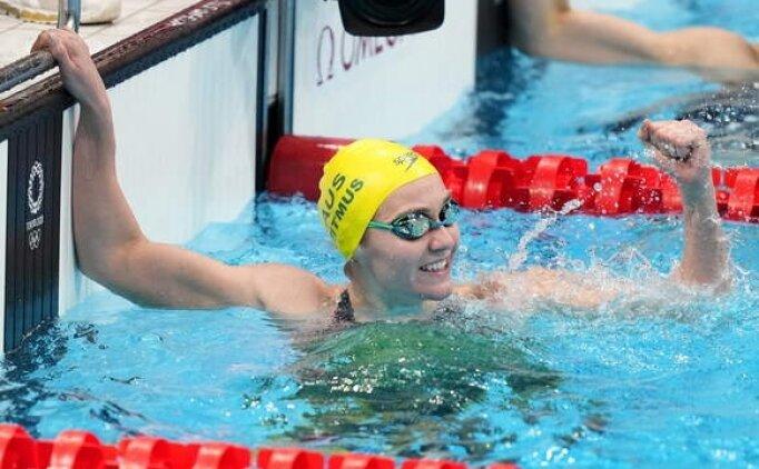 200 metre serbestte altın olimpiyat rekoruyla geldi