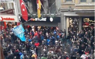 Trabzonspor taraftarları GS Store'a kepenk kapattırdı