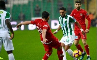 Bursaspor'da goller ve puanlar birbiriyle uyuşmuyor