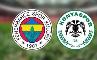 Fenerbahçe Konyaspor maçı canlı hangi kanalda? Fenerbahçe Konyaspor maçı saat kaçta?