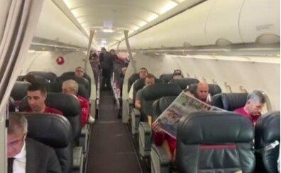 THY'den milli takıma uçak içinde tebrik anonsu