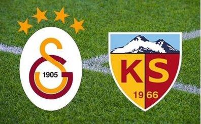 Galatasaray Kayserispor CANLI İZLE şifresiz, GS maçı canlı izle