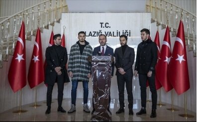 Futbolcular, Gençlik ve Spor Bakanı'yla birlikte Elazığ'da