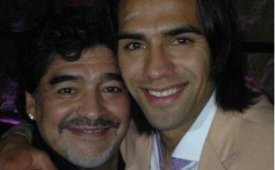 Falcao: 'Her şey için teşekkürler Maradona'
