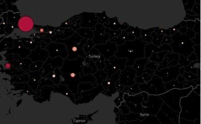 İllere göre Türkiye'de koronavirüs dağılımı haritası belli oldu