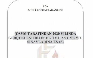 2020 YKS konuları belli oldu - MEB Talim Terbiye Açıklaması