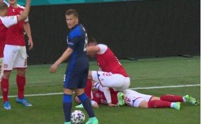 Korkunç: Eriksen yerden kalkamadı!