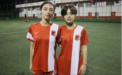 Tek yumurta ikizi kız kardeşlerin hedefi futbolda milli forma