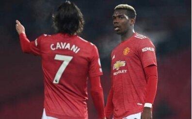 Manchester United'ı Cavani ve Pogba uçurdu