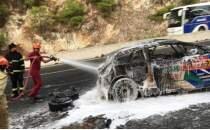Dünya Ralli Şampiyonası'nda araç yangını