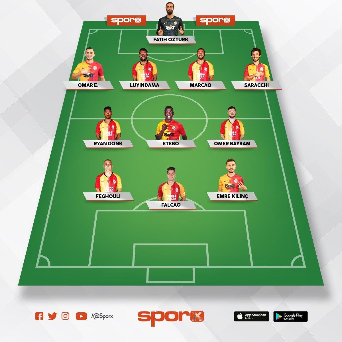 Galatasaray bu sezon ilk 11 böyle izleyin görün