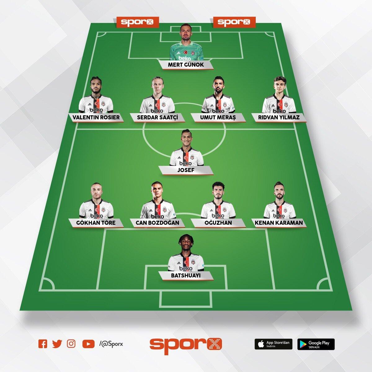Ajax maçı 11'i